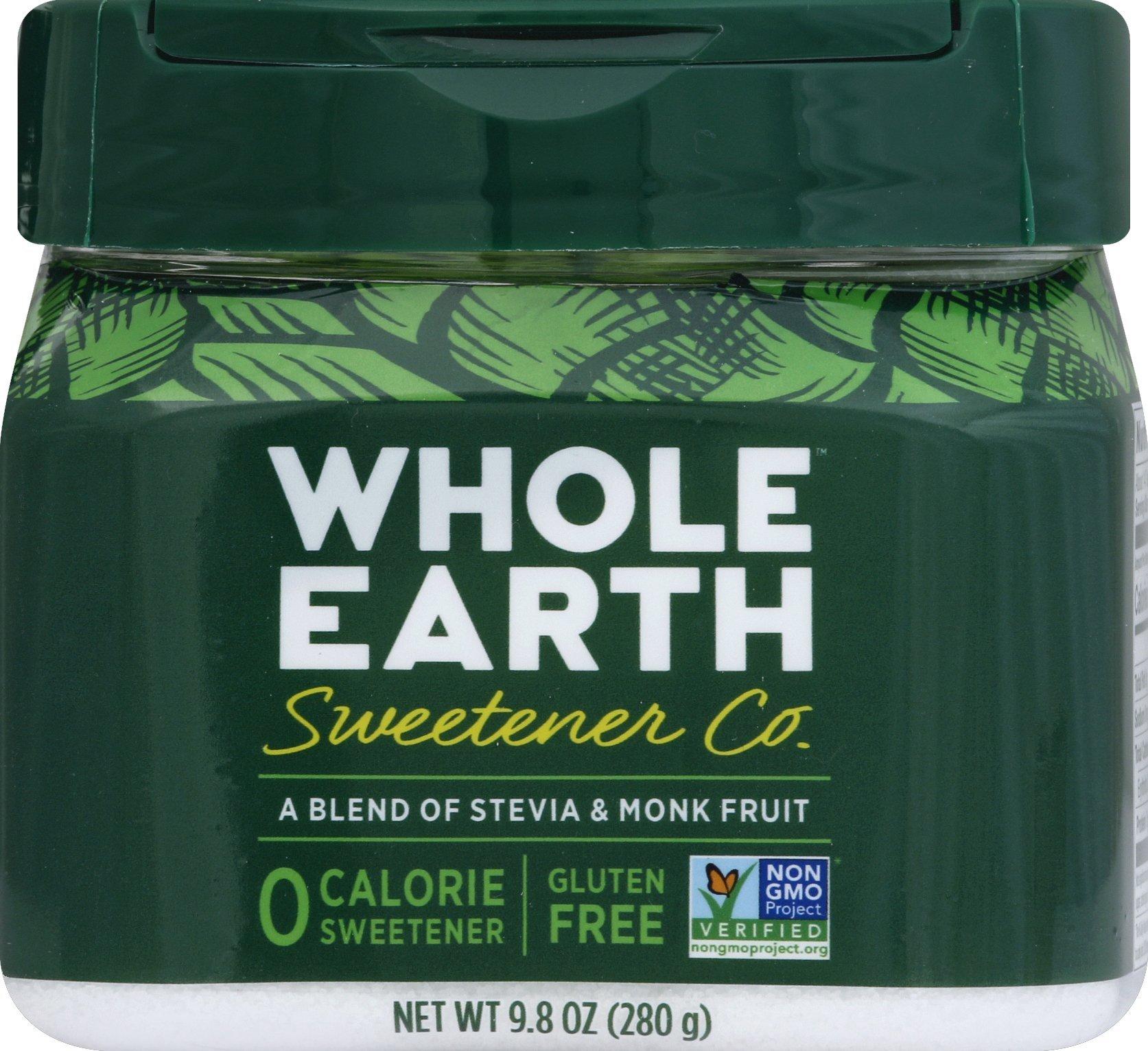 Whole Earth Sweetener Stevia & Monk Fruit Blend, 9.8 Ounce