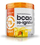 Top Secret Nutrition BCAA Re-Igniter Vegan Amino Acid Supplement with Astaxanthin and Electrolyte, Hydration Blend with Coconut water, 9.84 oz (30 servings), Pineapple Mango