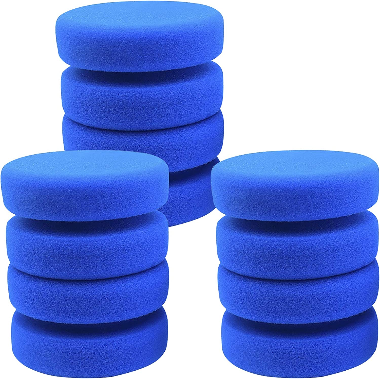 6 Sets Paint Sponge Applicator- 3 Inches Circular Watercolors Sponges Multipurpose Double-Dual Sided Painting Sponge for Art & Craft Pottery Cleaning Use, Car Waxing Sponge