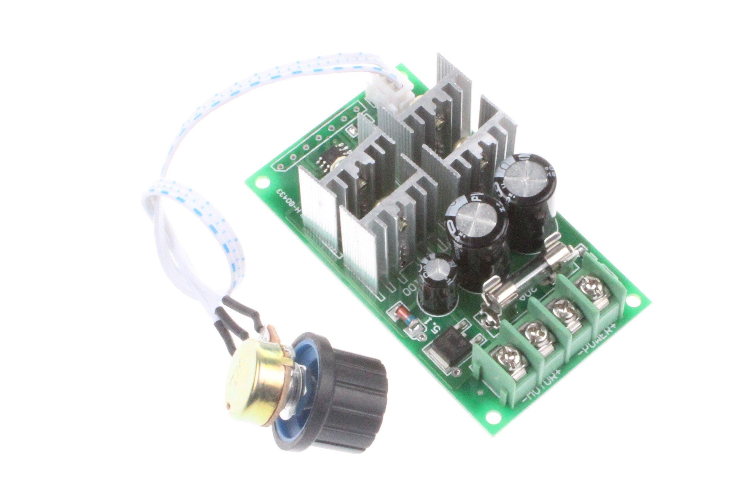 NOYITO 30A DC Motor Speed Controller DC 12V 24V 36V 48V 6-60V Brush Motor Controller Speed Range 0-100% Support PLC 0-5V MCU (30A)