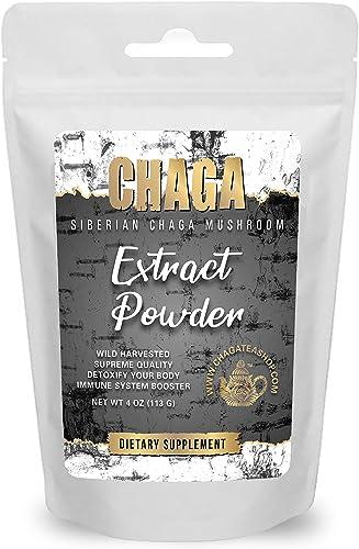 Siberian Chaga Mushroom Extract Powder 4 Oz. 113g.