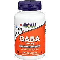 NOW Supplements, GABA (Gamma-Aminobutyric Acid) 750 mg, Neurotransmitter Support...