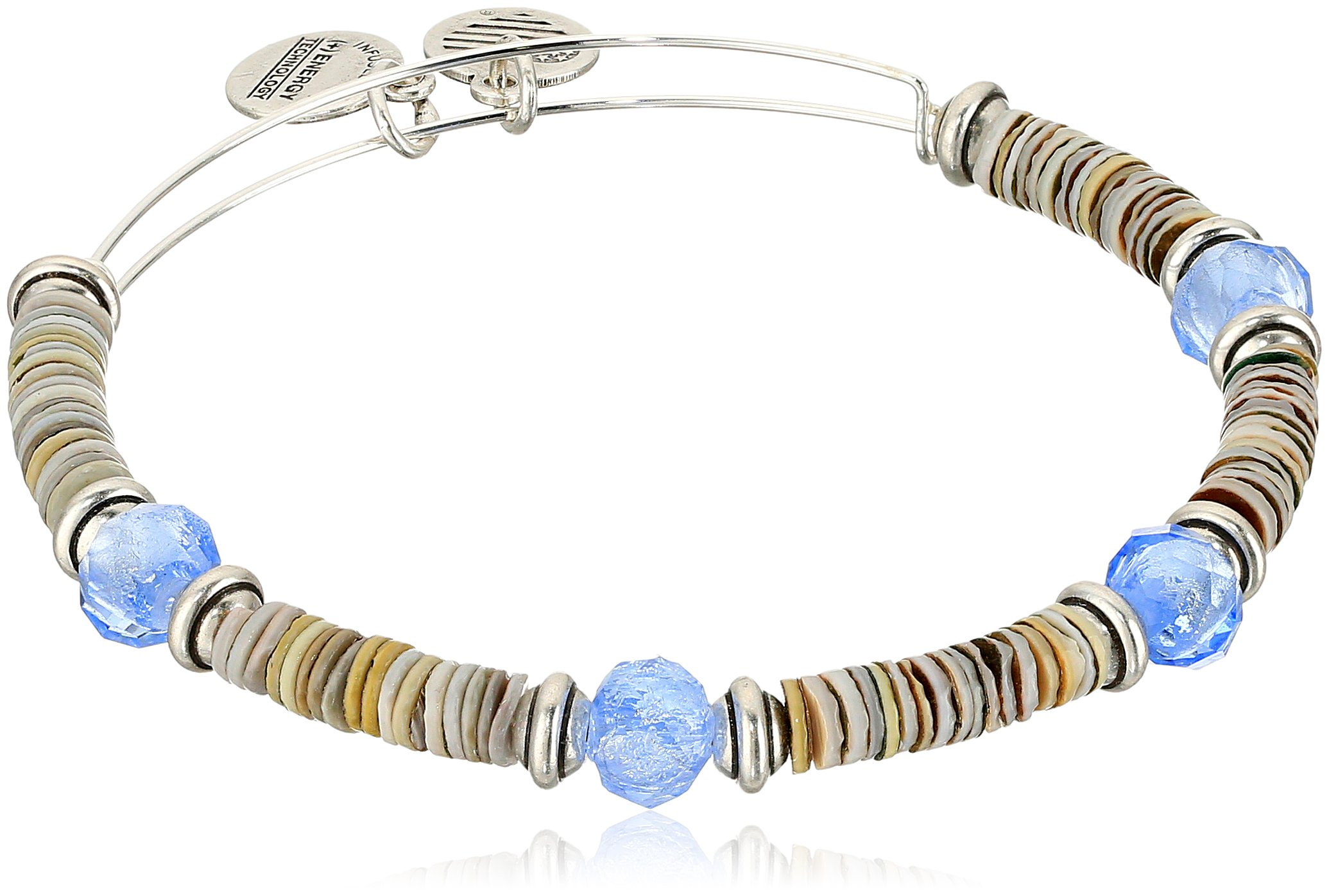 Alex and Ani Horizon, Sky/Rafaelian Silver Bangle Bracelet