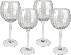 Artland Cambria 18 Ounce Clear Goblet Wine Glass, Set of 4