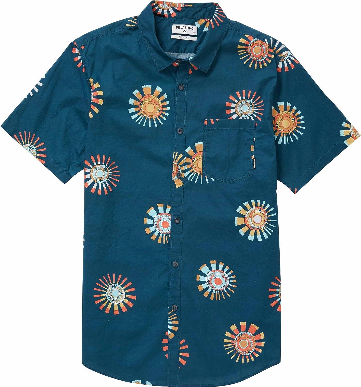 BILLABONG Sunday - Camisa de Manga Corta para Hombre - Azul - X ...