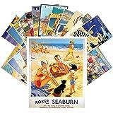 Carte Postale 24pcs Vintage Travel Posters Beach Holidays