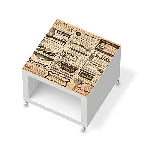 Juego de muebles de pegatinas para IKEA de laca mesa auxiliar con ruedas | Lámina para