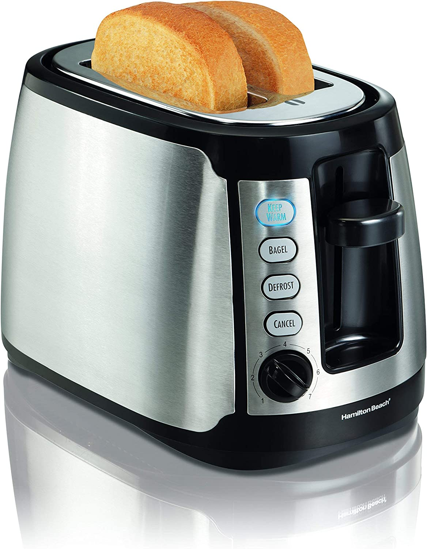 Hamilton Beach Keep Warm 2-Slice Toaster (22811) (Renewed)