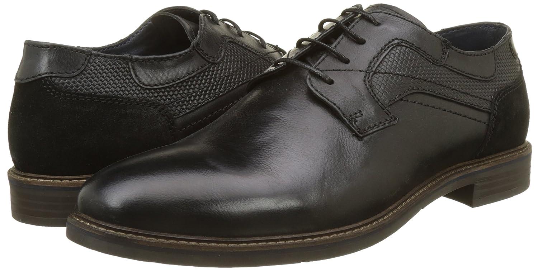 Para De Casanova Hombre noir Zapatos Negro Derby Ivan Cordones HqUT7