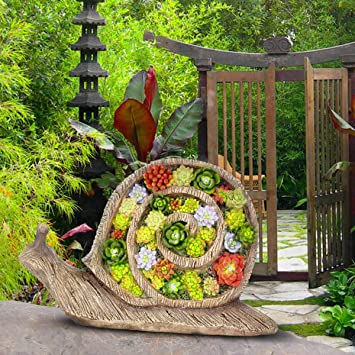 Resin Solar Light Decorative Garden Yard Balcony Lifelike Snail Ornament