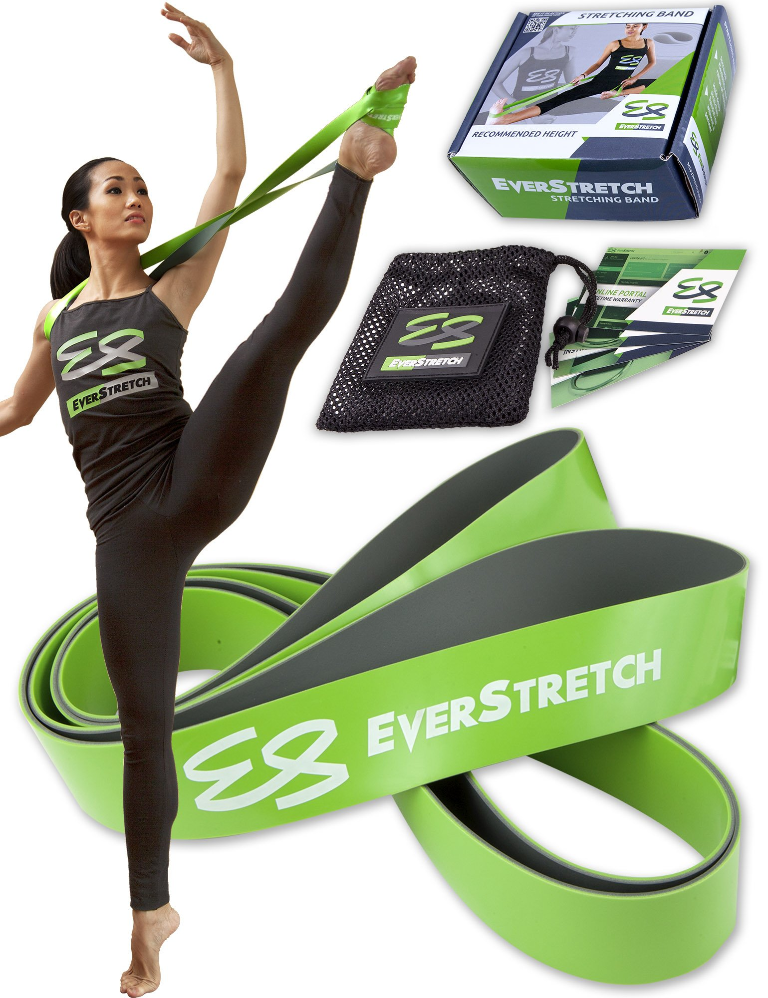 Ballet Stretch Band by EverStretch, don't settle for less: Premium 2-layer Dance Stretch Band for Hands Free Flexibility Training. Ballet Band Stretching Equipment for Dance, Cheer and Gymnastics. by EverStretch