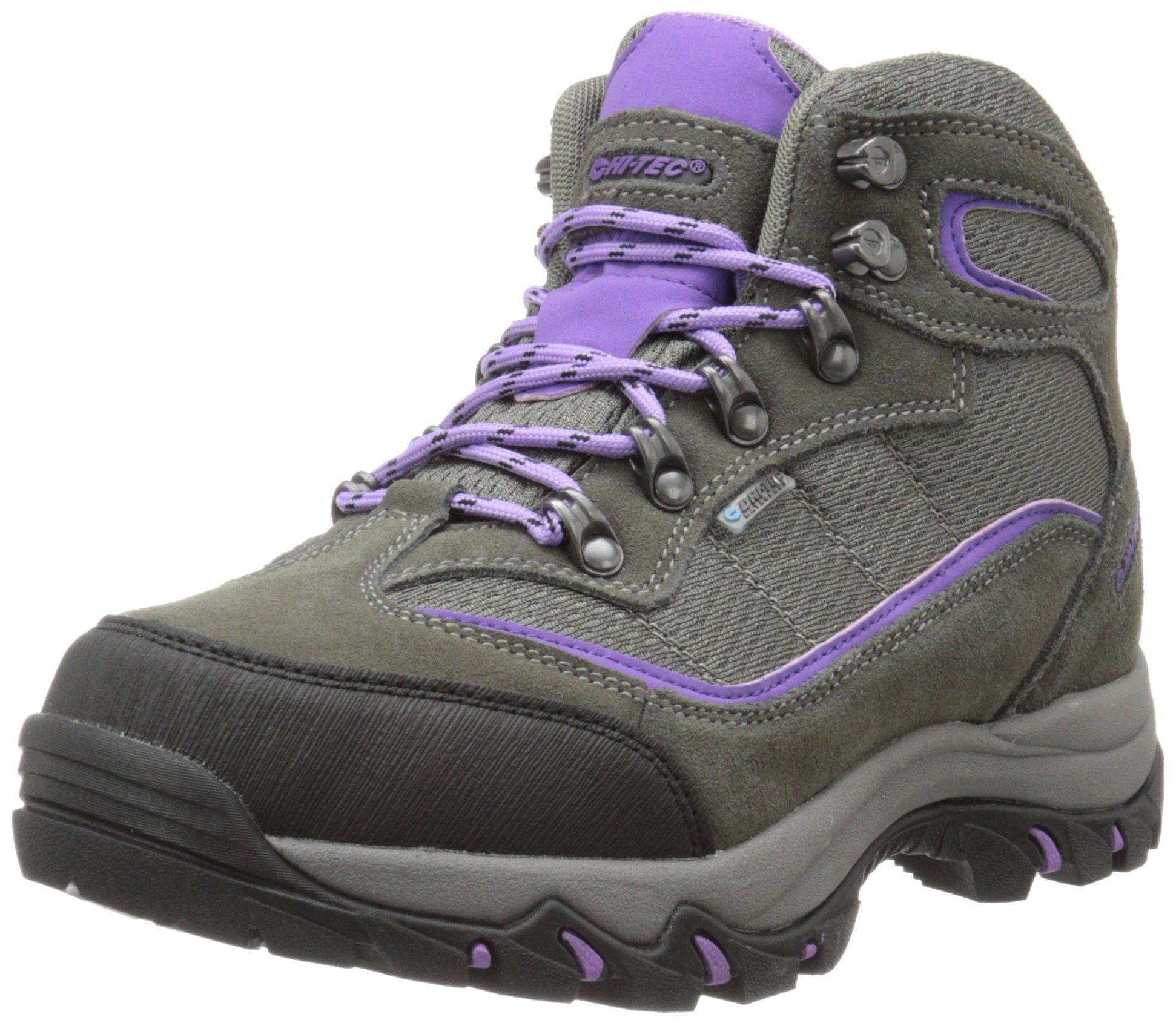 Hi-Tec Women's Skamania Waterproof-W Hiking Boot, Grey/Viola, 9 W US by Hi-Tec