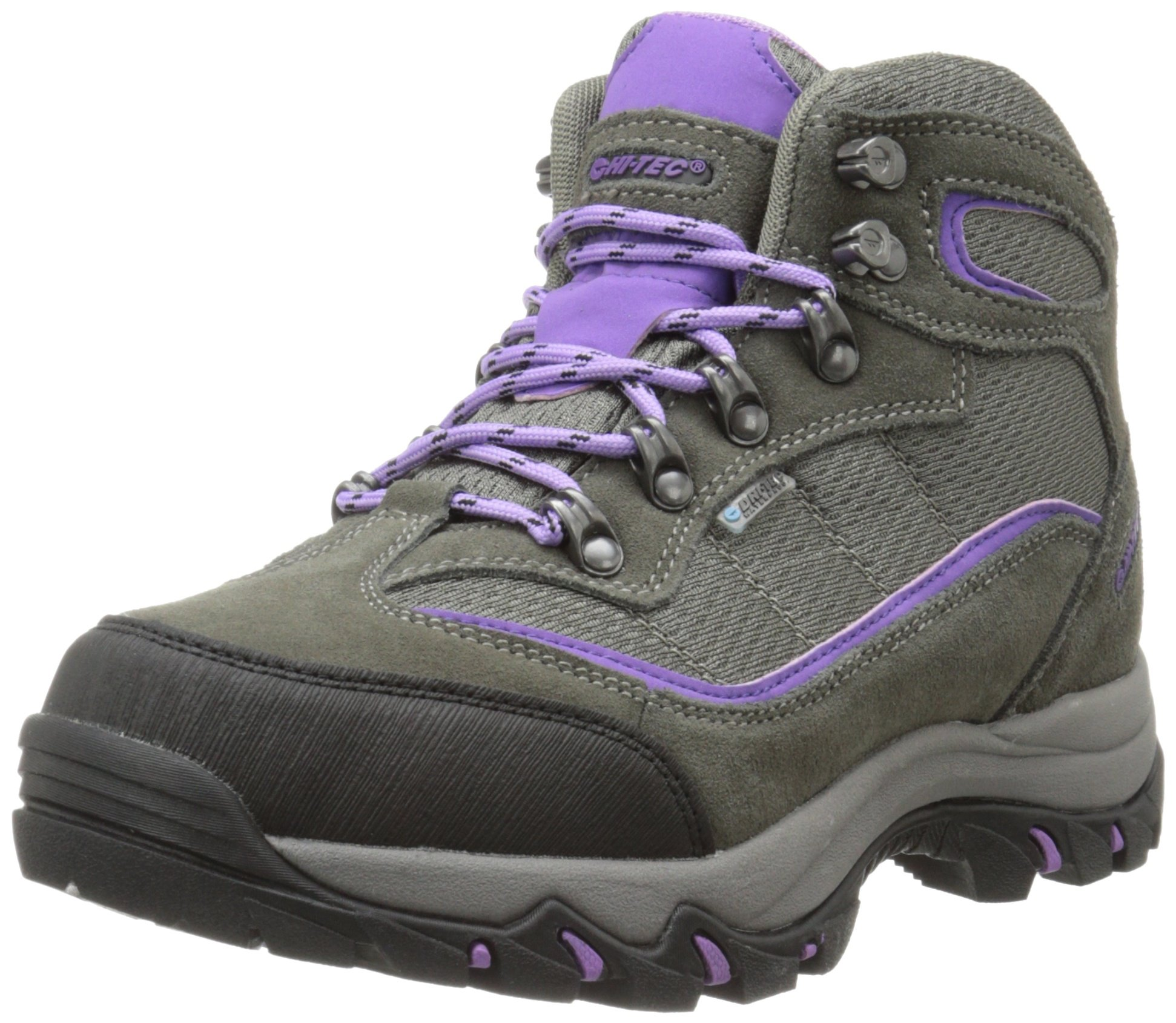 Hi-Tec Women's Skamania Mid Waterproof Hiking Boot, Grey/Viola,6 M US