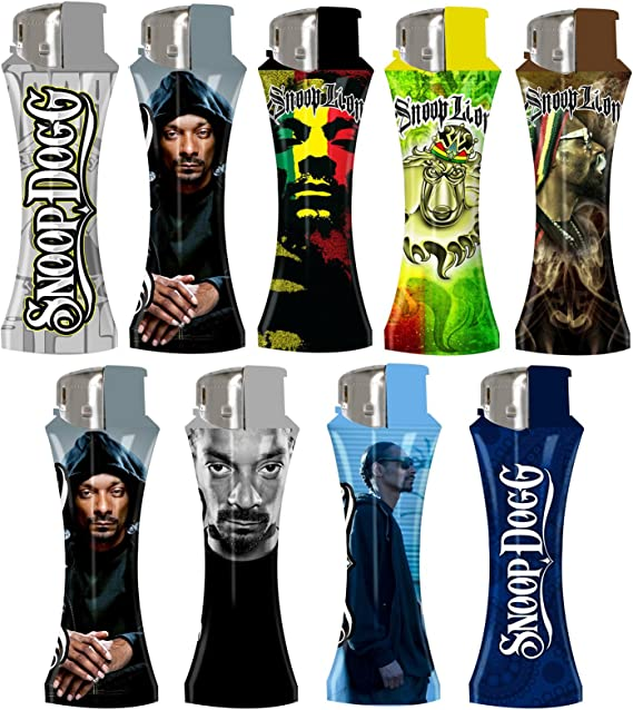 LOT of 5 Snoop Dog Electronic Relliable Lighters Great SnoopDog Designs