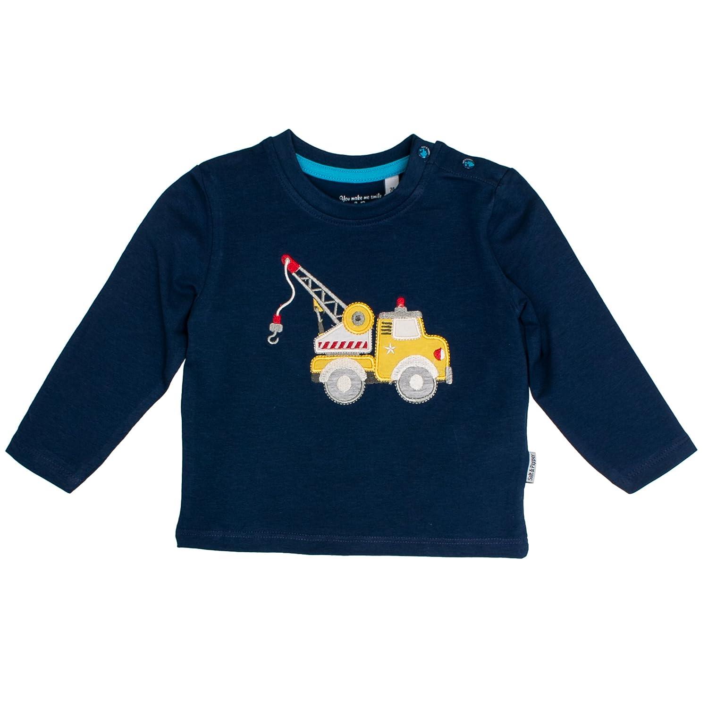 SALT AND PEPPER Baby-Jungen Langarmshirt B Longsleeve Cars Uni Kran Ocs 85211122