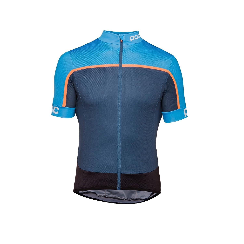 POC 2018メンズEssential Roadブロック半袖サイクリングジャージー – 58120 B07BH7X4J4 Small|Furfural Multi Blue Furfural Multi Blue Small