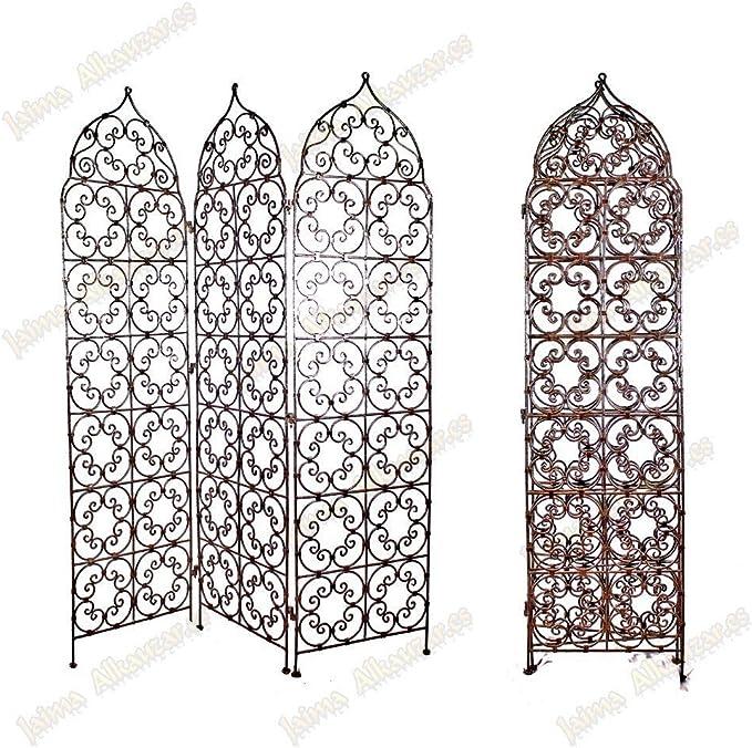 Biombo de forja de 3 Blade – Diseño 3 Tamaños – 2 modelos – Árabe – Consejo, pequeñas: Amazon.es: Hogar
