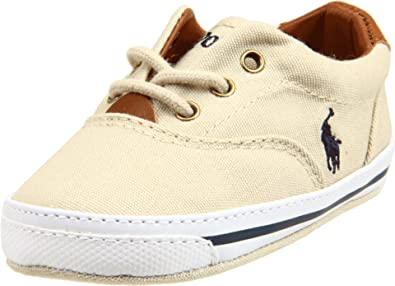 de35ea75 Ralph Lauren Layette Vaughn Ballet Flat (Infant/Toddler),Khaki,0 M