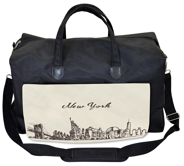 Brooklyn Bridge Ambesonne New York Gym Bag Large Weekender Carry-on