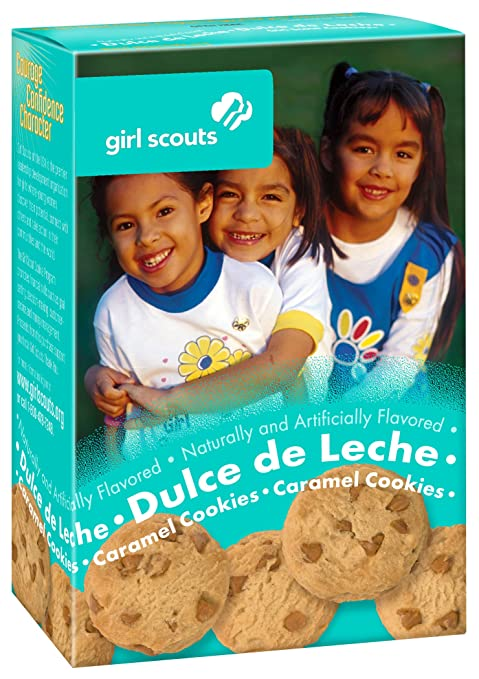 Amazon.com : Girl Scout Cookies Dulce de Leche Caramel Cookies with Caramel Chips - 1 Box of 22 Cookies : Grocery & Gourmet Food