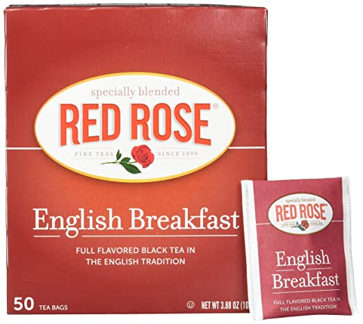 Red Rose Teas Black Tea, 6 Boxes of 50 (300 Tea Bags
