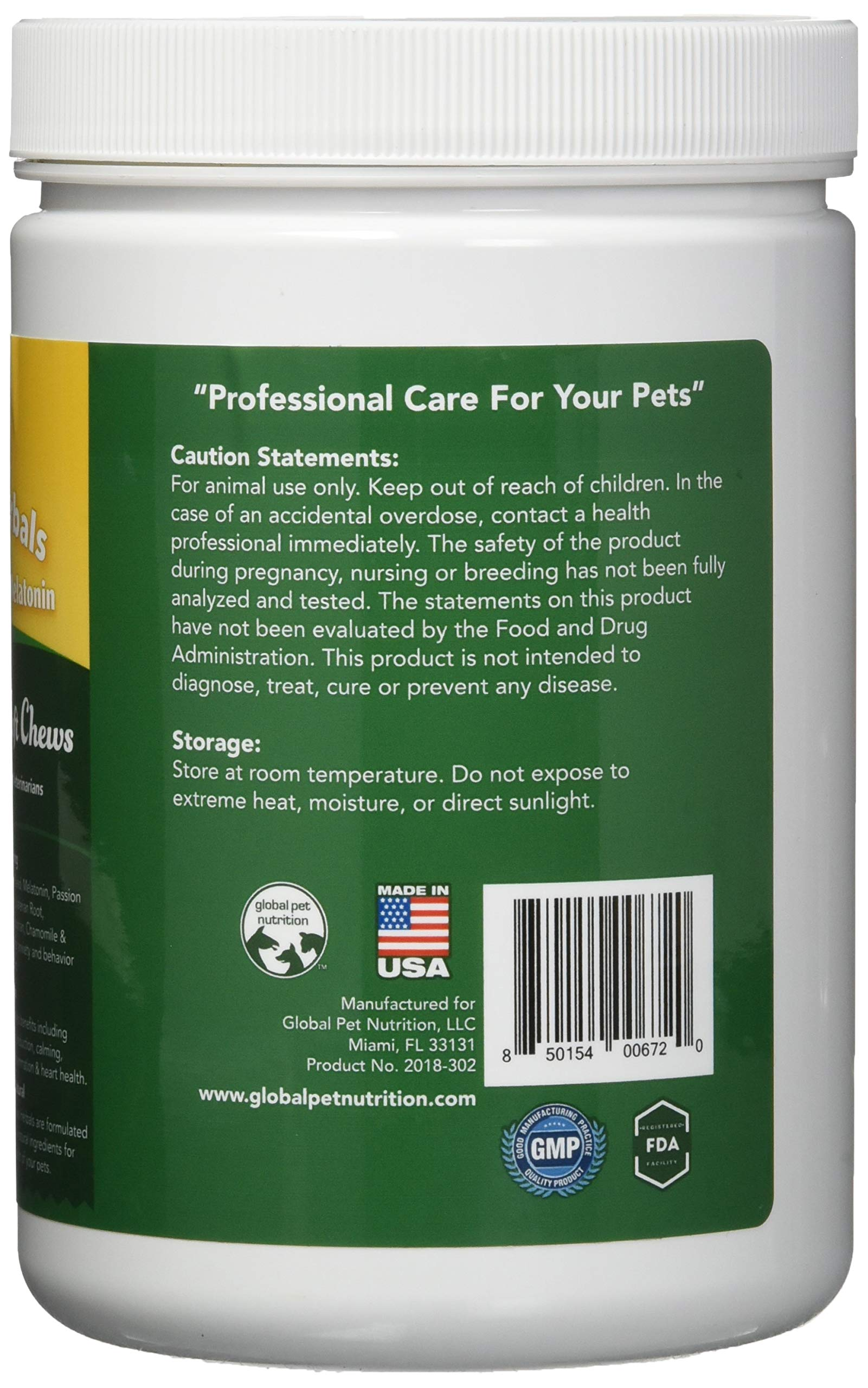 Global Pet Nutrition All-Natural Calming Soft Chews with Full Dose of Hemp Powder & Hemp Oil + Full Dose of Calming Matrix | Anxiety, Barking, Stress & Hyperactivity Relief | 120 Chews Great Value by Global Pet (Image #5)