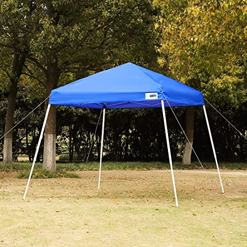 VIVOHOME Slant Leg Outdoor Easy Pop Up Canopy Party Tent Blue 8 x 8 Feet