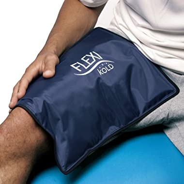 FlexiKold Gel Ice Pack (Standard Large: 10.5  x 14.5 ) - Reusable Cold Therapy Pack (for Pain and Injuries of Knee, Shoulder, Foot, Back, Ankle, Neck, Hip, Wrist) - 6300-COLD