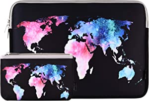 13 Inch Laptop Sleeve Bag MacBook Air 13 Inch Sleeve MacBook Pro 13 Inch Protective Neoprene Sleeve Laptop Sleeve 13 Inch Electronics Accessories Organzier Bag Carry Case Pouch(13 Inch Map Sleeve)