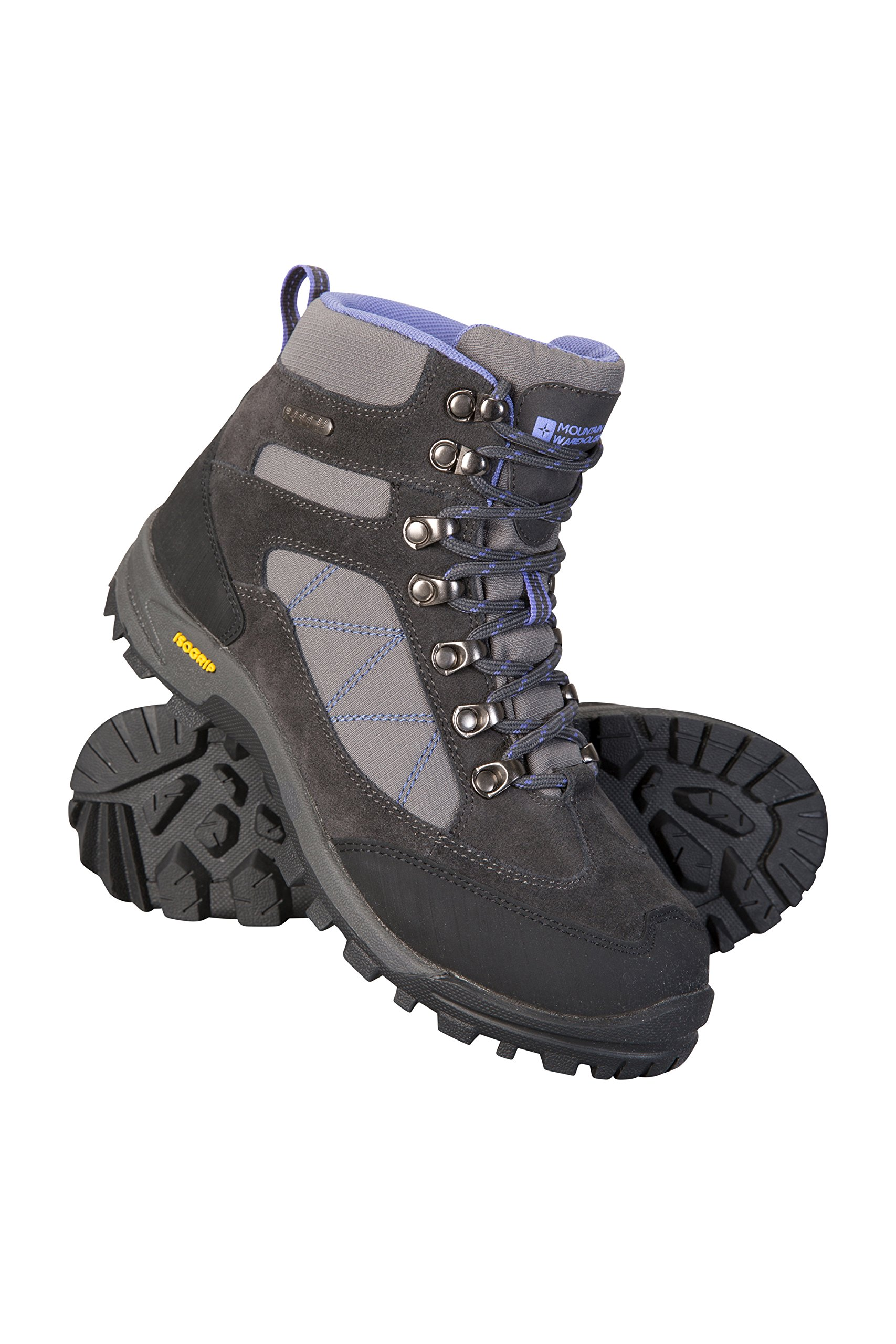 Mountain Warehouse Storm Womens Boots -Waterproof Ladies Hiking Shoes Grey 10 M US Women