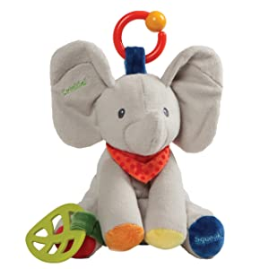 """Baby GUND Flappy the Elephant Activity Toy for Educational Play Stuffed Plush, 8.5"""""""
