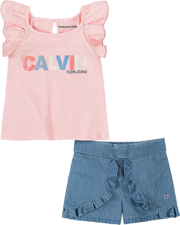 Calvin Klein Baby Girls' 2 Pieces Shorts Set