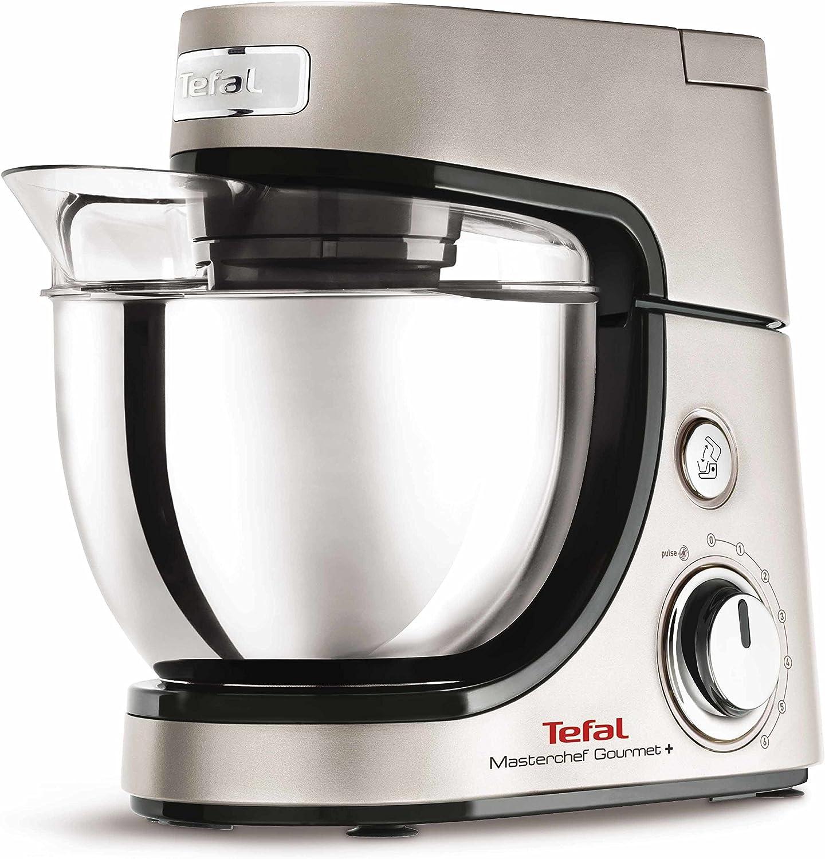 Tefal Masterchef Gourmet+ Premium 900W 4.6L Gris, Plata - Robot de cocina (4,6 L, Gris, Plata, Giratorio, 1,5 L, Acero inoxidable, Acero inoxidable): Amazon.es: Hogar