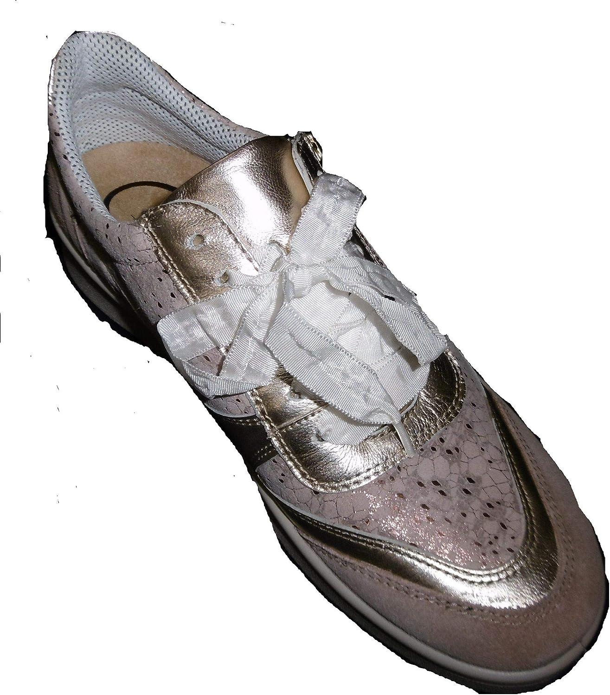 Jomos 809316-983-4051 Flora dames lage schoen sneaker breedte H Taupe/Gold