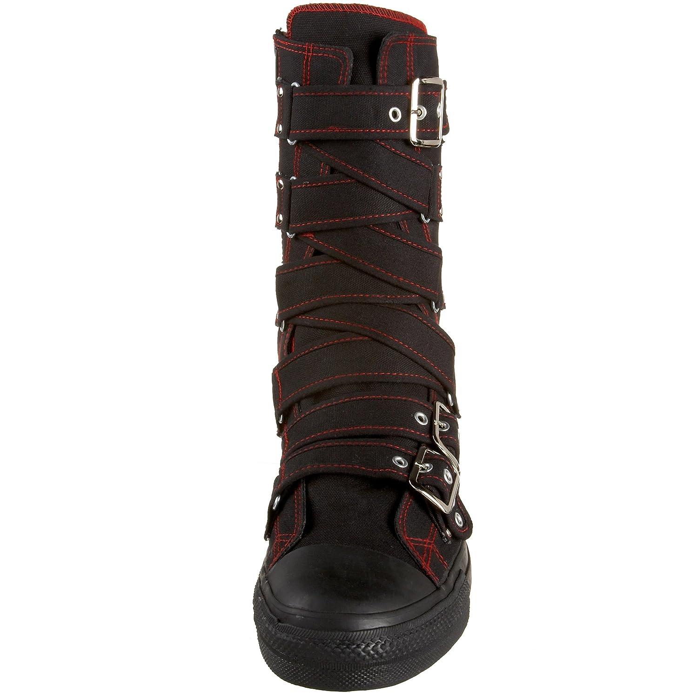 Demonia , Scarpe stringate donna Schwarz 45 (US-M12)