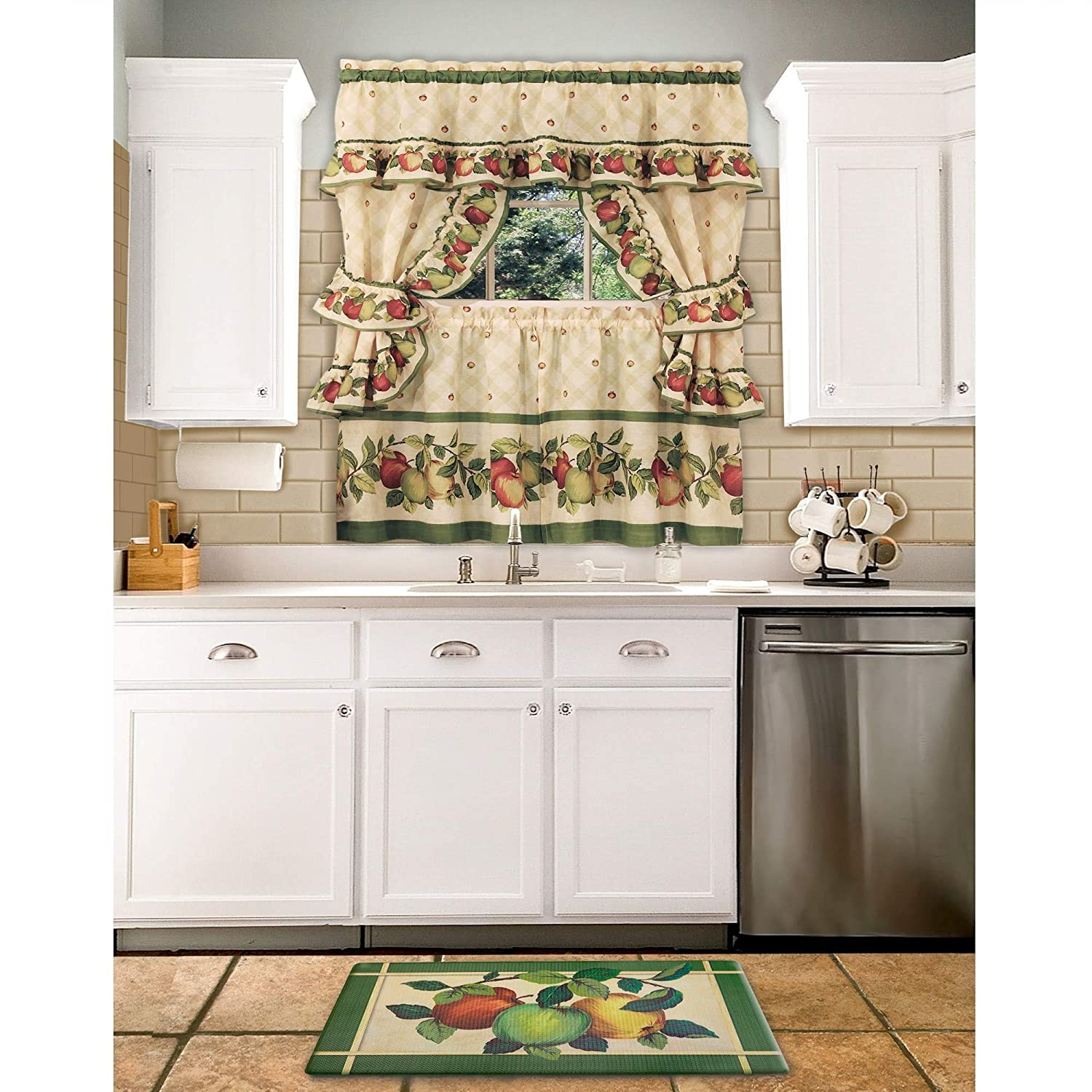 "Sweet Home Collection Durable Non Skid Rug for Long Standing Comforter, 30"" x 18"", Apple Orchard"