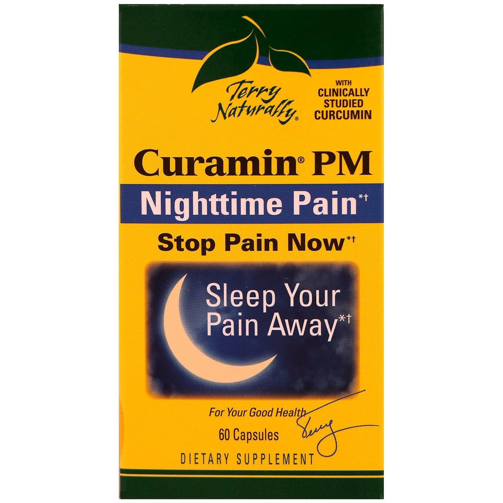 EuroPharma Terry Naturally Curamin PM Nighttime Pain Relief 60 Capsules