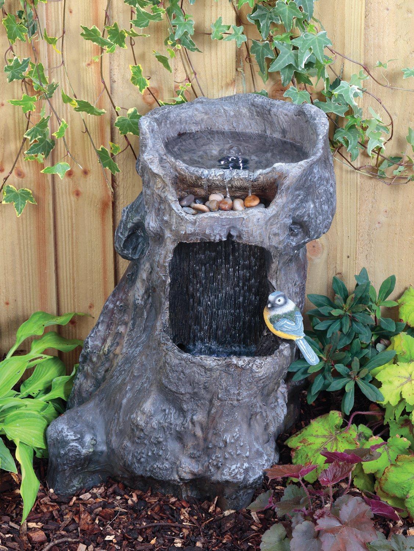 Blagdon Liberty Wasserfall Baumstumpf Vogeltränke Terrasse Wasserspiel