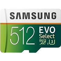 Samsung Evo Select 512GB UHS U3 Class 10 microSDXC Memory Card with Adapter (MB-ME512GA/AM)