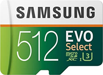 Samsung Evo Select 512GB UHS U3 microSDXC Card with Adapter
