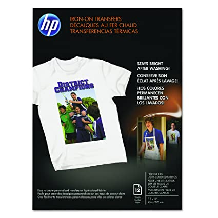 Amazon hp c6049a iron on transfers 8 12 x 11 white pack of hp c6049a iron on transfers 8 12 x 11 white fandeluxe Images