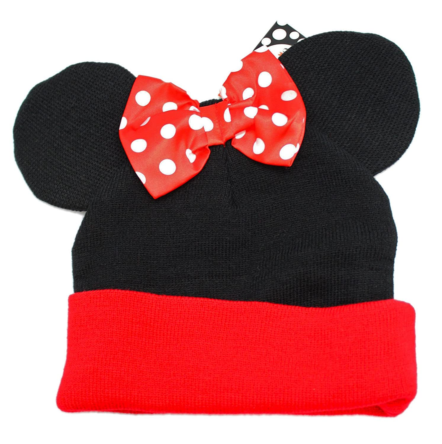 Amazon.com: Disney Cuffed Beanie - Minnie Mouse with Bow: Clothing