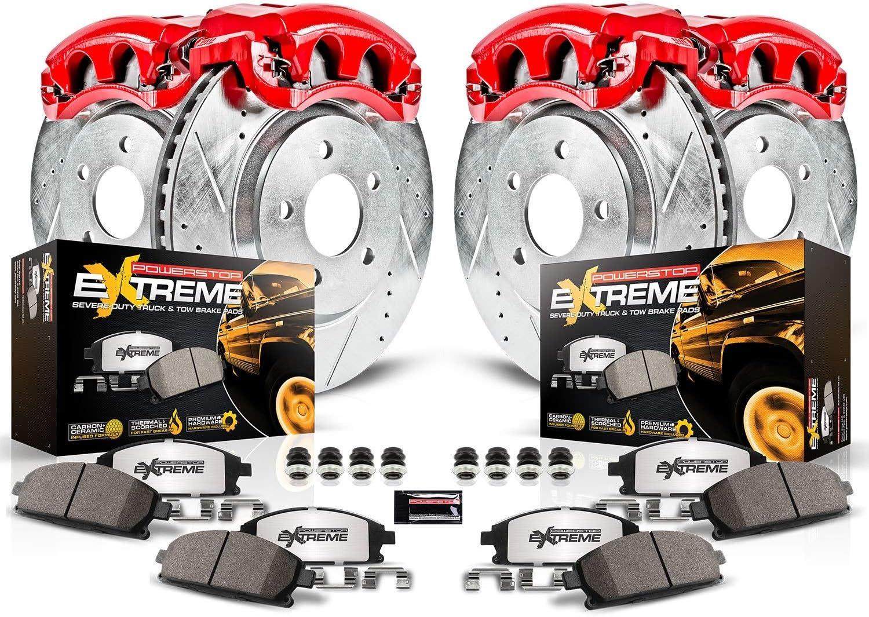 Z36 Truck /& Tow Front /& Rear Kit Rotors and Carbon-Fiber Ceramic Brake Pads Power Stop K15042DK-36