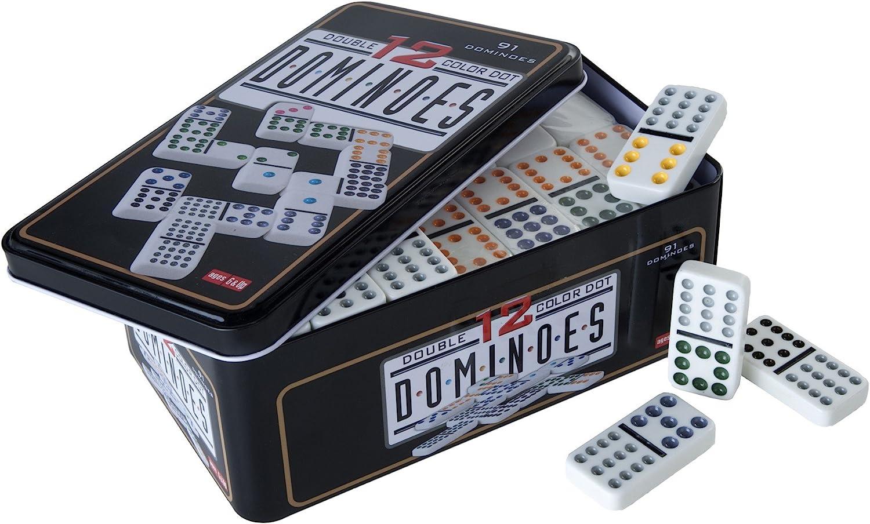 Engelhart - Dominó Colores, Doble 12 , 5 Jugadores - 250103: Amazon.es: Juguetes y juegos