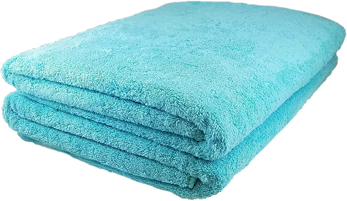 Fiber Water Absorbent Pool Beach Drying Shower Bath Towel Cleaning Washcloth