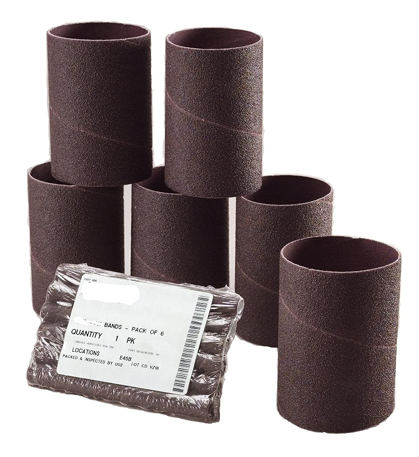 Sungold Abrasives 454078 Spiral Bands Sanding Sleeves 2-Inch by 5-5//8-Inch 100 Grit Alumium Oxide Cloth 6-Pack