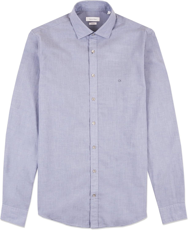 Calvin Klein Bari W Slim Fit FTC Camisa, Azul (Light Blue 455), Small (Talla del Fabricante: 38) para Hombre: Amazon.es: Ropa y accesorios