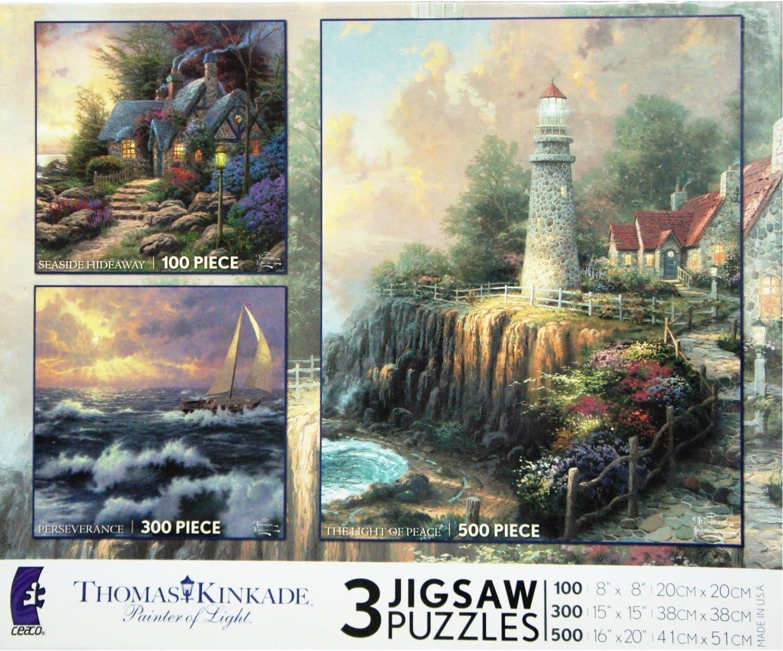 Thomas Kinkade/'s Seaside Hideaway 300 Piece Oversized Puzzle