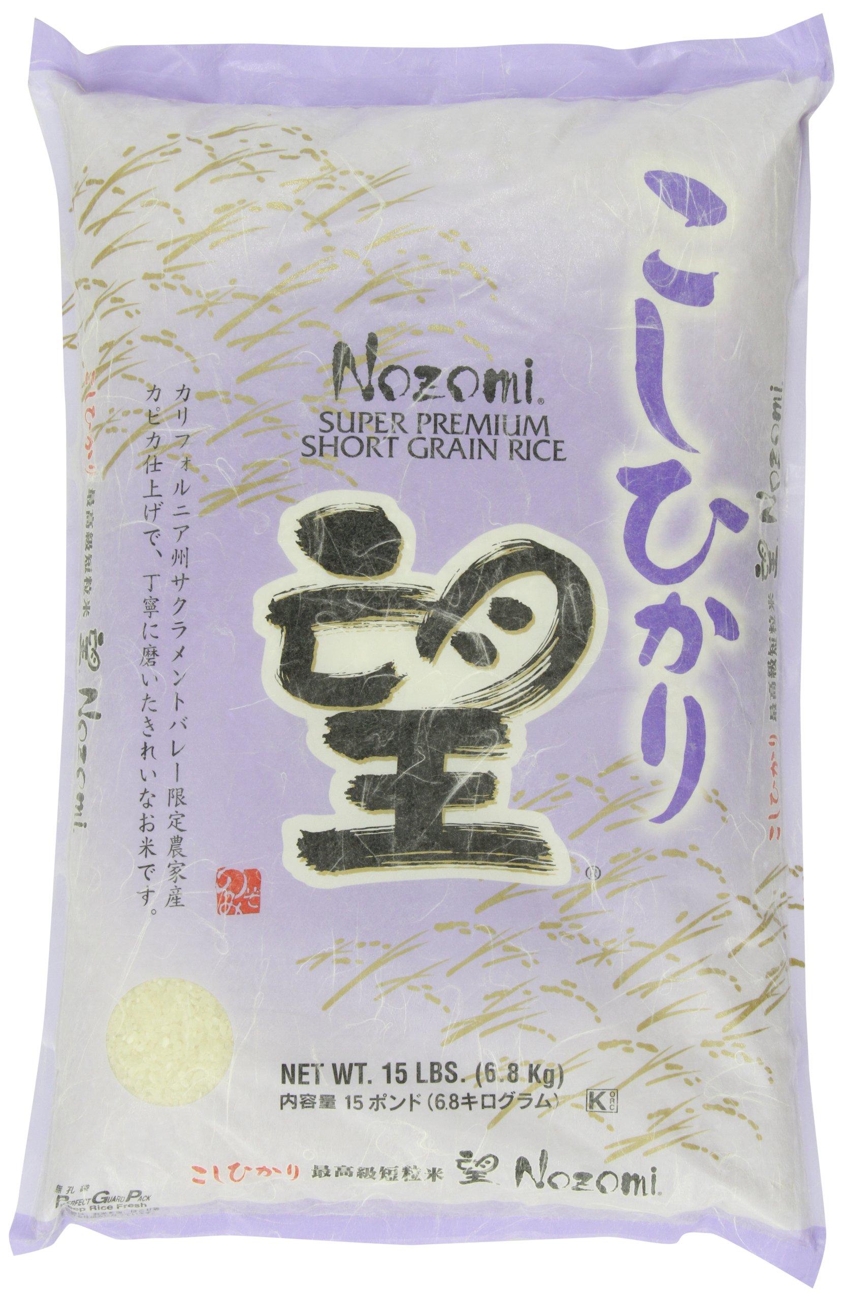 Nozomi Super Premium Short Grain Rice, 15-Pound