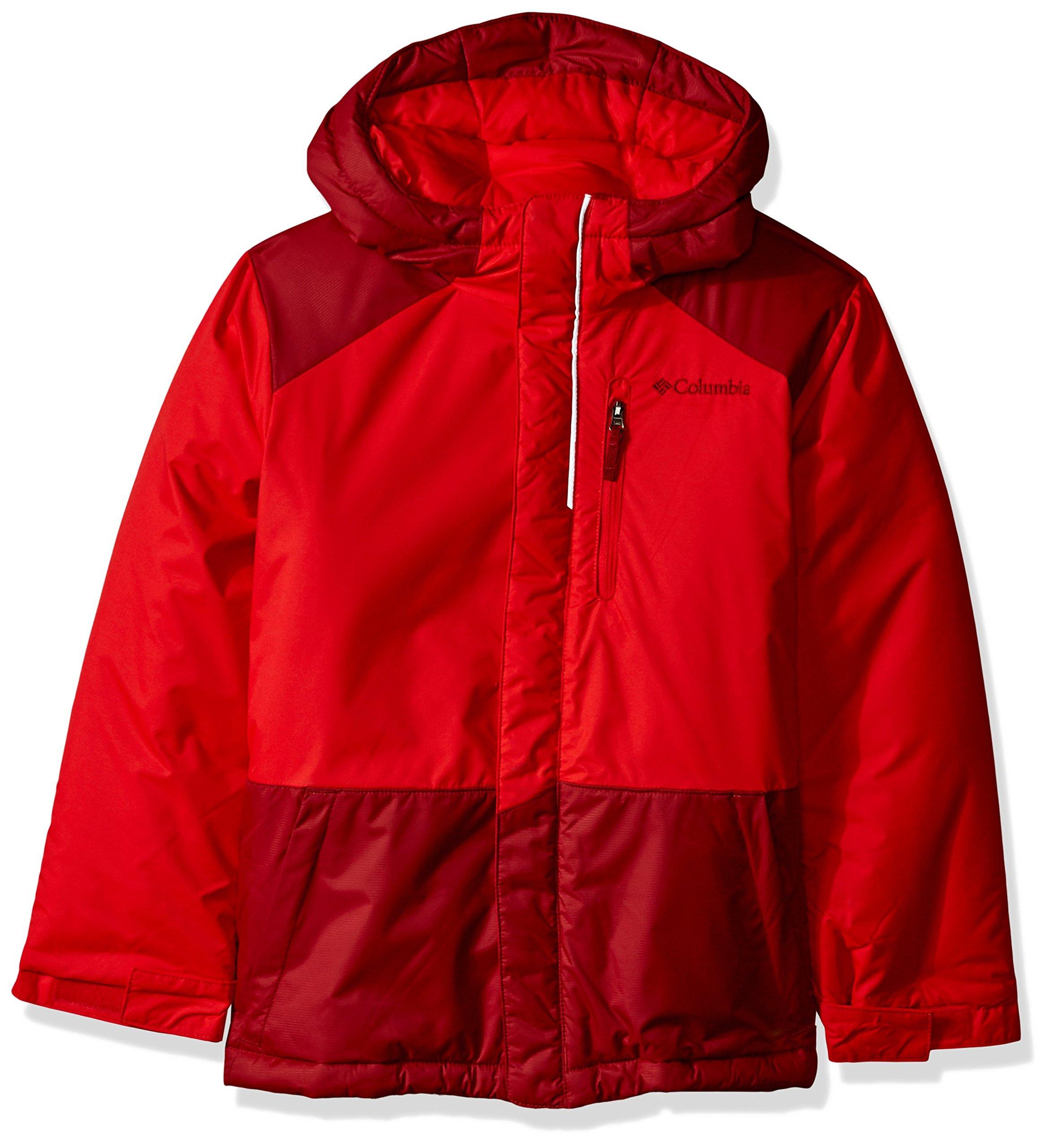 Columbia Boys' Big Lightning Lift Jacket, Spark/Red Element, X-Large
